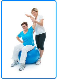 Older woman receiving Neurological Physiotherapy treatment