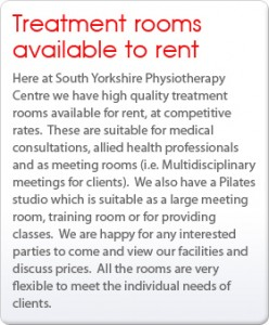 Treatment rooms available to rent