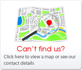 Can't find us? Click here to view a map or see our contact details